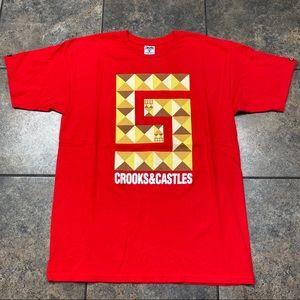Men's Crooks & Castles S/S T-Shirt Size Large